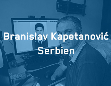 [Translate to Leichte Sprache:] Branislav Kapetanovic, Serbien